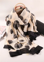 Wholesale Muslin Shawls - Wholesale- 180x90 Flowers Silk Scarf Brand Women Fashion Shawl Large Blanket Scarves Foulard Femme Hot Muslin Hijab
