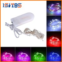 Wholesale micro led strip buy cheap micro led strip 2018 on sale 2017 2m 20leds led string cr2032 battery operated micro mini light copper silver wire starry led strips for christmas halloween decoration aloadofball Images