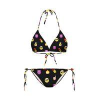 Wholesale Cool Beach Bikini - 2017 Cool Emoji QQ Face Swimwear Two-Piece Swimming Suit Strappy Women Bikinis Set Backless Beach Wear Strappy Swimsuit Woman