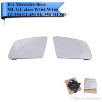 Wholesale Mercedes Benz Mirrors - 2X Door Wing Mirror Glass Rearview Mirror Glass For Mercedes Benz ML GL Class W164 W166 GL350 GL450 ML350 ML500 V251 #W115