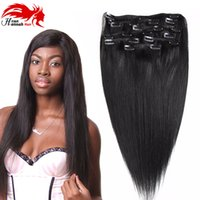 Wholesale Clip Remy Hair Thick - Double Weft 100% Remy Human Hair Clip in Extensions 10''-26'' Grade 7A Quality Full Head Thick Long Soft Silky Straight 8pcs for Wom