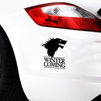 Wholesale Wolf Car Vinyl - Winter Is Coming Wolf Game Of Thrones Car Styling Decorative Head Of Wolf Car Stickers Vinyl Decals JDM