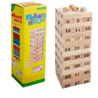 Wholesale wooden building toys for children resale online - Brain Teaser Block intelligence digital layers stacked tall building blocks of high leisure class wooden toys for children