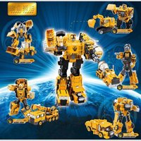 Wholesale Transformation Truck Toy - Alloy Engineering Transformation Robot Car Deformation Toy 2 in 1 Metal Alloy Construction Vehicle Truck Assembly Robot Kid Toys