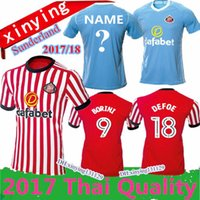 Wholesale Football Jeresys - NEW Top Quality 2017 2018 Sunderland home Soccer Jersey 17 18 Fabio Borini Wahbi Khazri Januzaj Defoe AFC away Football shirts jeresys