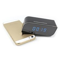 Wholesale Live Hidden Cameras - Cheap wifi live stream clock hidden spy camera night vision 128G memory card supported