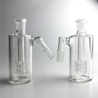 14mm aschfänger 45 groihandel-Glas Aschfänger 14mm 18mm 4,5 Zoll Mini Glas Bong Asche Fänger Dicke Pyrex Klar Bubbler Ashcatcher 45 90 Grad
