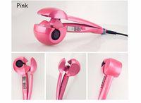 Wholesale Hair Care Black Women - 2017 hot selling LCD Hair Curler Women Hair Care Tools Curling Irons Pink Black Ceramic Wave Hair Roller Magic Curling Iron