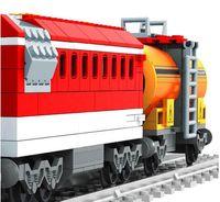Wholesale Railroad Model Building - AUSINI 588pcs City Series Train with Tracks Building Blocks Railroad Conveyance Kids Model Bricks Toys brinquedos for children