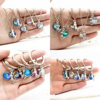 Wholesale Metal Fairy Charms - Ocean Series Multicolor Mermaid Jewelry Mermaid & Mermaid Scale Keychain Charm Mixed Wholesale On Behalf Of The Delivery