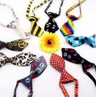 Wholesale Elastic Neckties - new Factory Sale New Pet Elastic Neckties Tie Bow Pet Tie Dog Pet Clothes Cat Dog Ties BOWS P10