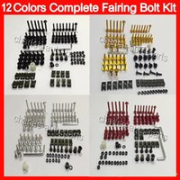 Wholesale Kawasaki Fairings Kits - 12Colors Fit ALL bikes Fairing bolts full screw kit For HONDA KAWASAKI SUZUKI YAMAHA DUCATI BMW TRIUMPH Agusta Aprilia Body Nuts bolt screws