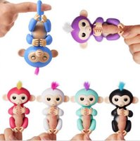 Wholesale Green Monkey Wholesale - 6 colors in stock Interactive Baby Monkey Finger Toys Monkey Electronic Smart Fingers Monkey ABS+PVC 130mm