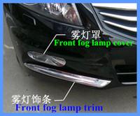 For Honda crosstour 2011-2013 ABS CHROMED Front fog lamp cover Trim 2PCS//set