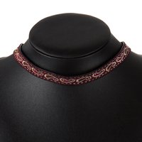 Wholesale Silver Blue Chokers - Embroidery Street Snap Choker Necklace Korea Simple Bohemian Sexy Joker Designer Fashion Alloy Cute Blue Red Color Statement Necklaces Women