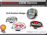 Wholesale Car Grill Emblems - Free shipping Car Accessories Front Grill Emblem Badge Fit For Mini Cooper S R55 R56 R57 R60 Countryman Paceman