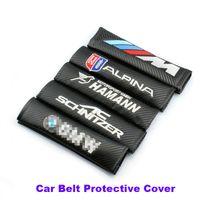 Wholesale E64 E63 Bmw - Practicality 2pcs Car Seat Belts Padding Cover For E60 E90 F10 F30 F15 E63 E64 E65 E86 E89 E85 E91 E92 E93 F02 M5 E61 F01 M M3