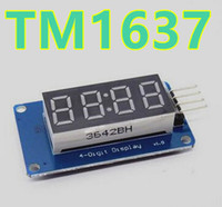 TM1637 Display LED digital 4 bits Módulo reloj Tubo de ánodo Cuatro Serial Driver Board Pack