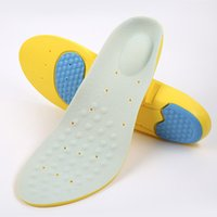 Wholesale soft shock shoes online - 2 pairs Memory Foam Insoles Arch Support Shock Absorption Cushion Basketball Running Sport Insole Massage Deodorant Soft Comfortable Shoe Pa