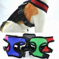 örgü film toptan satış-Naylon Pet Örgü Koşum Yumuşak Net Köpek Mini Yelek Ayarlanabilir Nefes Köpek Koşum Köpek Malzemeleri 21 Tasarımlar YW83