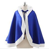ingrosso bolero blu-New Brand Girl Cloak Faux Fur Short Capo Xmas Kids Wraps Royal Blue Satin con cappuccio Bolero Collezione Ultimi