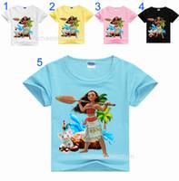 Wholesale Summer Christmas T Shirt - 13 Style Boys girls Moana T-shirts 2017 New children cartoon moana Short sleeve T-shirts baby clothes B001