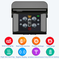 Wholesale High Temperature Solar - Solar power Tire Pressure Monitoring System Car TPMS with 4 pcs External Sensors high Low pressure high temperature warnings TPMS