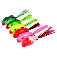 Wholesale freshwater frog lures for sale - 6 color cm g Ray frog Soft baits fishing hooks Silicone lures Artificial Pesca Tackle Accessories