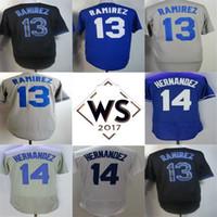 Wholesale Hanley Ramirez Baseball - 2017 WS PATCH Mens Womens Kids Los Angeles Hanley Ramirez Kike Hernandez Grey Black Blue White Cool Flex Base Baseball Jersey
