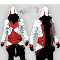 Unisex assassins creed costumes - 2017 New Hot Assassins Creed Cosplay Overcoat Colors Fashion Assassin s Creed Cool Men Tops Slim Connor Jacket