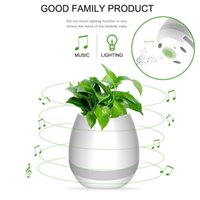 Wholesale Roses Light Bulbs - Music Flowerpot Smart Touch Music Plant Lamp Rechargeable Wireless Play Piano on a Real Plant Musical Boxes Bluetooth Speaker Night Light