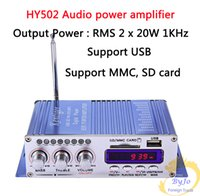 mp3 usb sd усилитель оптовых-Hi-Fi HY502 аудио усилитель мощности USB MP3 DVD CD FM SD цифровой плеер для мотоцикла авто стерео усилитель мощности