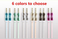 Wholesale Note Speakers - 5FT 1.5M Car auxiliar Cable 3.5mm to 3.5mm audio cables Male Audio note aux cables car speaker for Iphone 6 6s 7