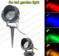 LED spot or flood light - NEW X1W High Power LED Path Spot Light With Base or Spike LED Lawn Spike Light LED Inground Flood light MYY