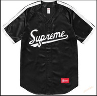 Wholesale Chao supremesu Justin Bibb street Justin Bieber baseball uniform short sleeved T shirt with a couple