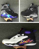 Wholesale Drop Ship Boots - Drop shipping High Quality Retro 8 Men Basketball Shoes Retro VIII Aqua retro 8 Men Sports Boots US Size 7-13