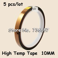 Wholesale High Sublimation Transfers - Wholesale- 2016 10mm * 33m High Temperature Office Adhesive Tape for hot stamping sublimation heat transfer heat press transfering temp re