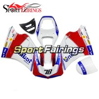 Wholesale 996 Kit - Complete Fairings For DUCATI 996 748 916 998 96 97 98 99 00 01 02 ABS Plastic Motorcycle Fairing Kit Bodywork Unibat White Red Blue Fittings