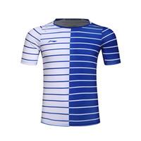 camisa de badminton venda por atacado-Li-Ning Mens Badminton Camisetas Quick Dry Forro Respirável Jersey Esportes Camisa Atlética Li Ning Ténis de Mesa Roupas AAYK299