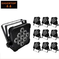 Wholesale Rgba Par - 10pcs lot 9x12W 4IN1 RGBW RGBA Led Par Light High Quality DMX512 4 7 Channels Flat Led Par Light DJ Equipment Led Stage Light