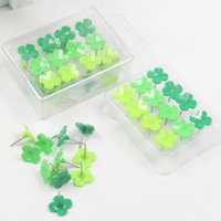 Wholesale Thumbtack Wholesalers - 24 pcs lot Creative beard plastic push Pin soft wood decorative clover thumbtack Office Binding Supplies