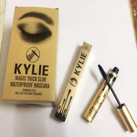 Wholesale Simple Eyelash - Gold Leo Birthday Edition Kylie Jenner Mascara Magic thick slim waterproof mascara Black Eye Mascara Long Eyelash Charming eyes Cosmetic