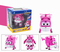 Wholesale airplane wings - 2017 New Arrival 15CM Super Wings Deformation Airplane Robot Action Figures Toys Transformation robot for children gifts Brinquedos