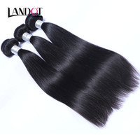 Cambodgiens Straight Virgin Human Hair Weave Bundles Pas cheres Cambodgien Remy Cheveux Humains Extensions Natural Black Tangle Free 3/4 / 5Pcs
