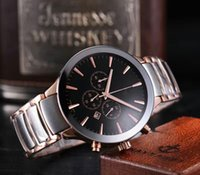 Wholesale High Quality Luxury Brand Roda Quartz Watch Men Black Dial Original clasp Stainless Band Male Watch Hkpost