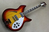 Wholesale Guitar Cherry Hollow - Hot Sale 12-String Electric Guitar with Cherry Sunburst Body and 2 Pickups,5 Knobs, Can be Changed