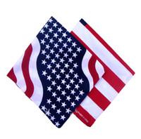 baumwoll-polyester-schals großhandel-Großhandelsflagge der amerikanischen Flagge, Druckschal, Polyester und Baumwolle, die großes Taschentuch, Flaggenquadrat, freies Verschiffen drucken