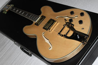 Wholesale Natural Color Electric Guitars - Custom natural color 335 NEW USA KING LUCILLEVIBRATO ELECTRIC GUITAR in stock