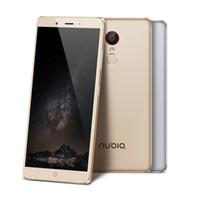 Wholesale Android Phone Zte - Original ZTE Nubia Z11 Max Cell Phone Snapdragon 652 Octa Core 4GB RAM 64GB ROM 6.0inch 16MP Dual SIM 4000mAh Fingerprint ID LTE Smart phone