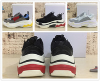 Wholesale Rubber S - 2017 HOT Paris Triple-S Designer Luxury Shoes Low Top Sneakers Triple S Men's and Women's Casual Shoes Outdoor Sports Trainers Shoes 36-45